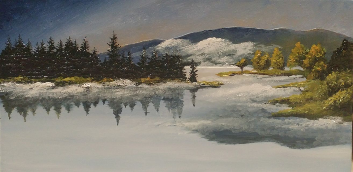 """""""After The Rain"""" 10""""x20"""" $250"""