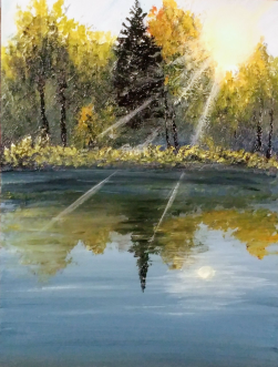 """""""A Moment Of Late Summer"""" 9""""x11"""" SOLD"""