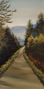 """Evergreen Path"" 10""x20"" SOLD"