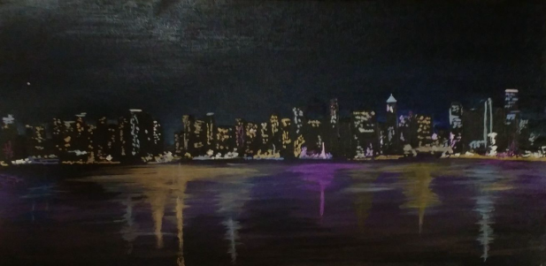 """Seattle Skyline"" 10""x20"" $250"