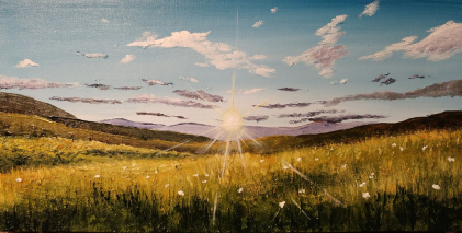 """Summer Field, Danville"" 10""x20"" $250"