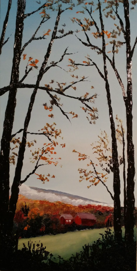 """""""The Woods At Home"""" 10""""x20"""" $250"""