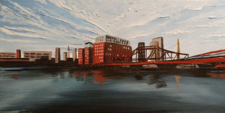"""""""View From The Harbor"""" 10""""x20"""" $250"""