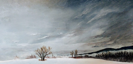 """Winter's Accolade"" 10""x20"" $250"