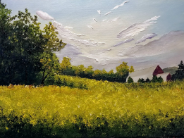 """Where The Sun Hits 11""""x14"""" SOLD"""