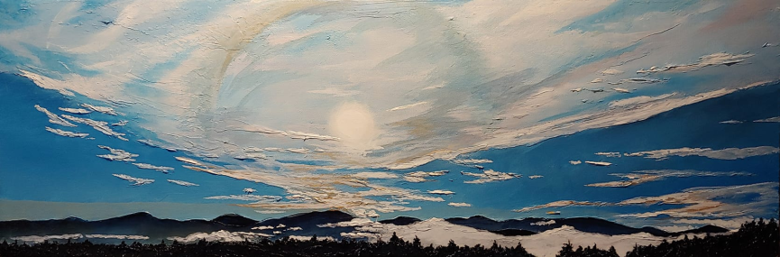 """Blues Gold"" 12""x36"" $700"