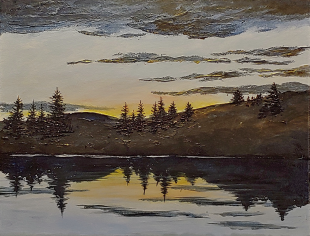 """Joes Pond Reflection"" 11""x14"" $250"