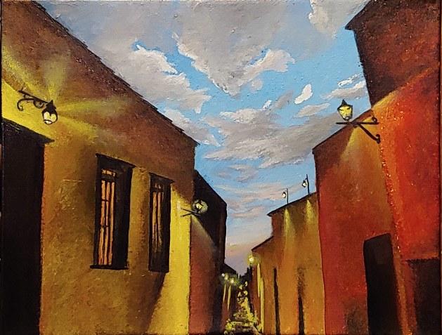 """""""San Miguel de Allende, Dusk"""" 11""""x14"""" $250"""